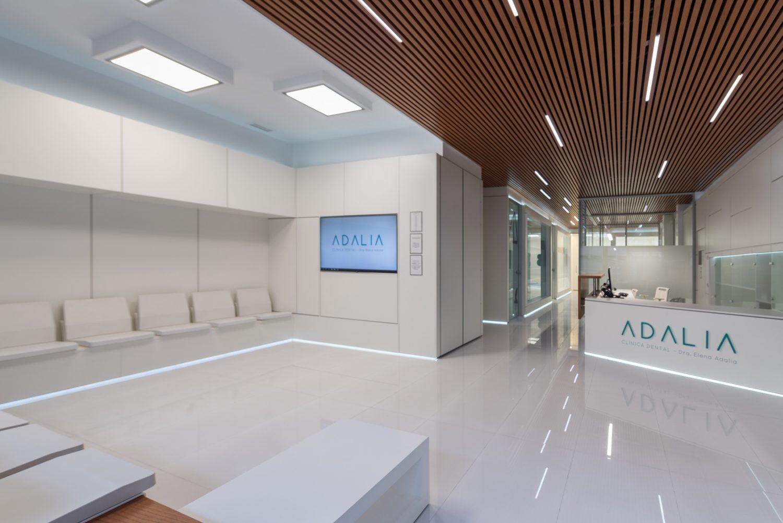 Sala de espera de la Clínica Dental Adalia