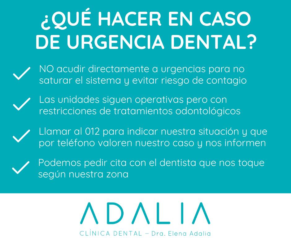 Urgencia dental en estado de alarma con Clínica Dental Adalia
